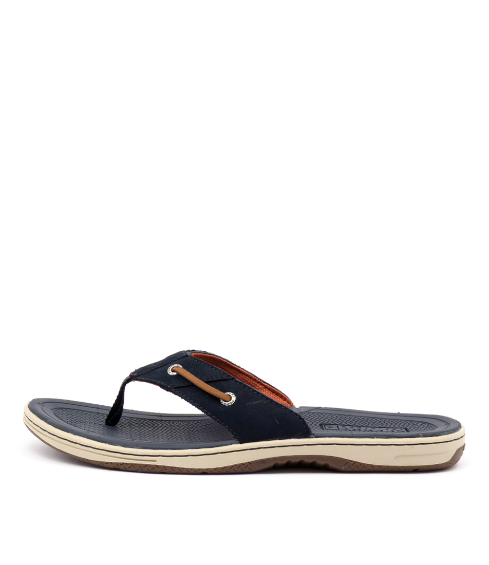 4fefdc002cd BAITFISH THONG NAVY TAN LEATHER by SPERRY - at Styletread