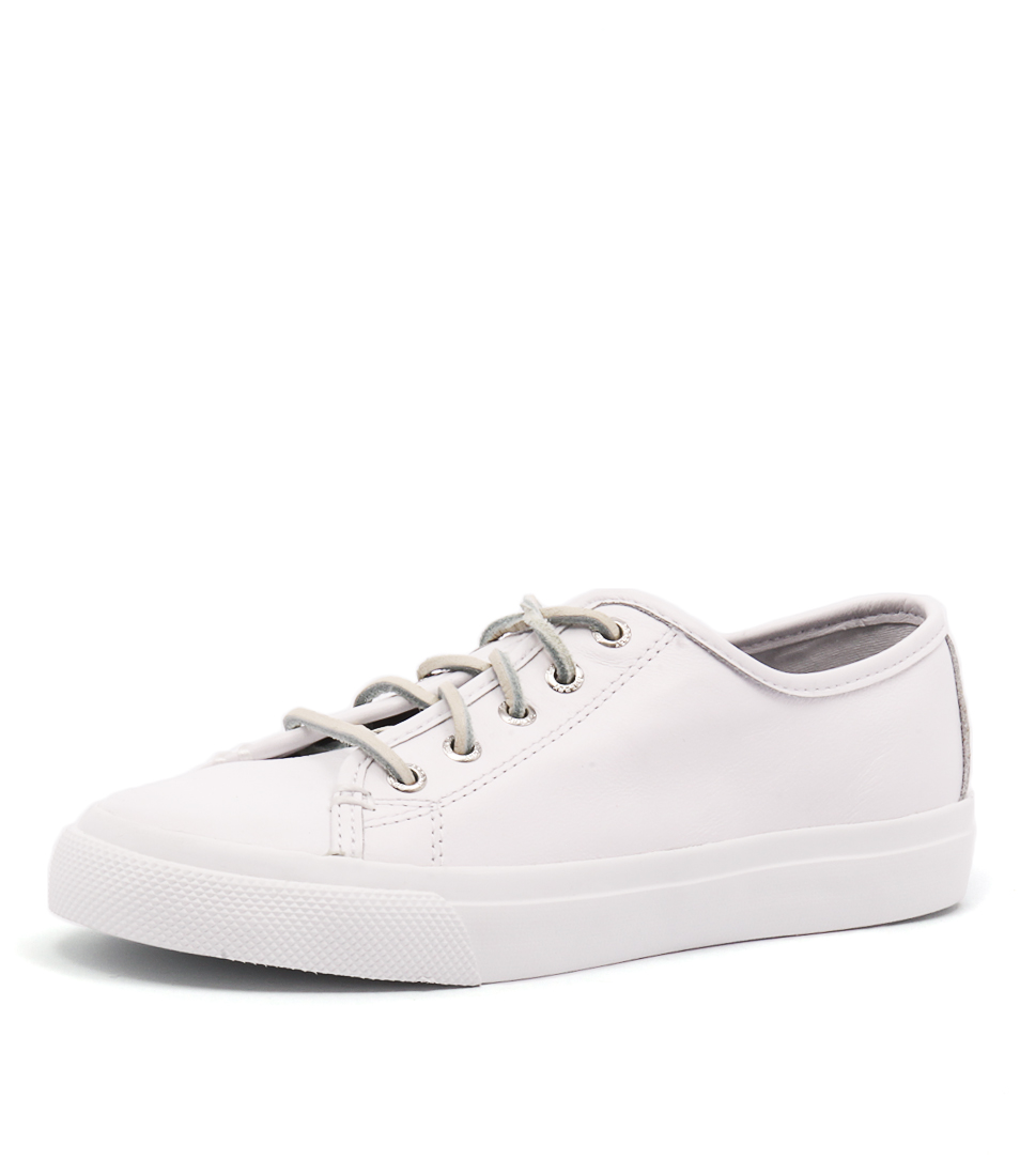 Sperry Seacoast Core Leather White Sneakers