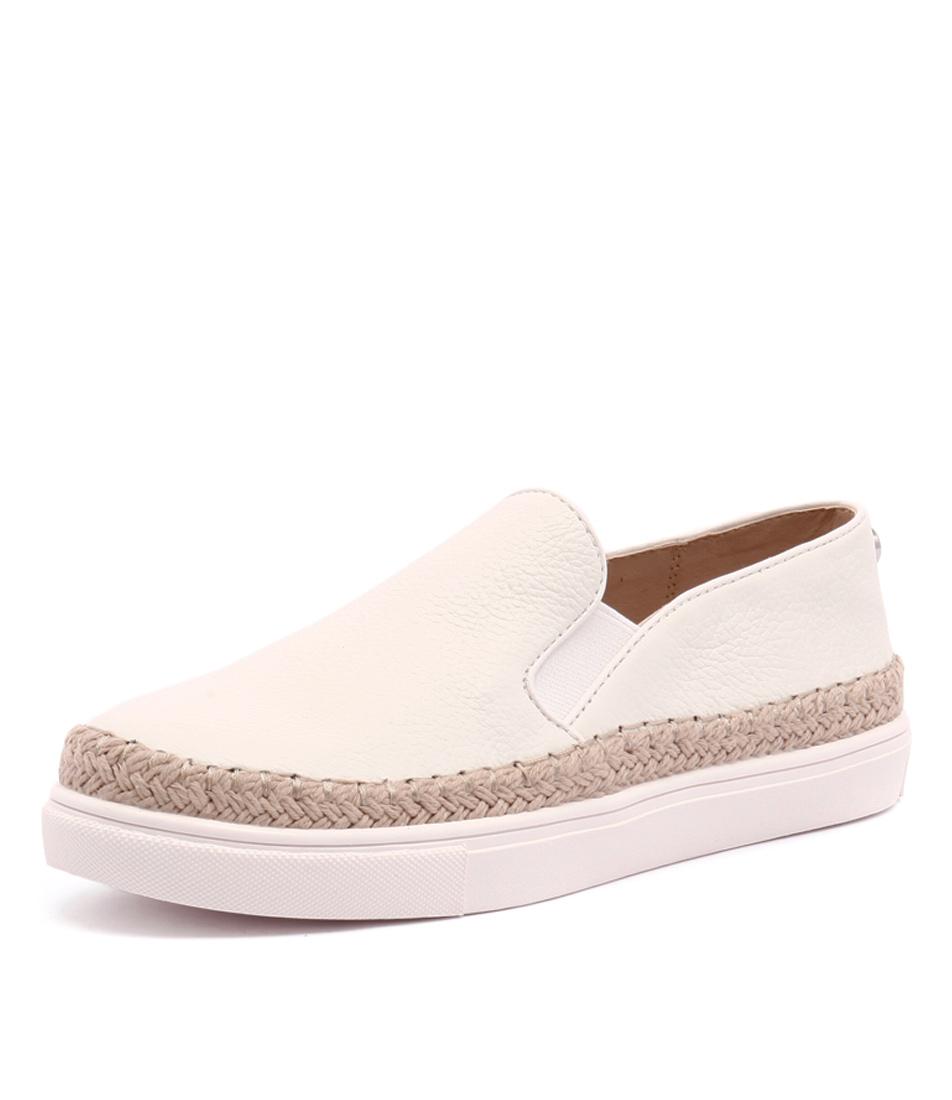 Steve Madden Sailor White Loafers