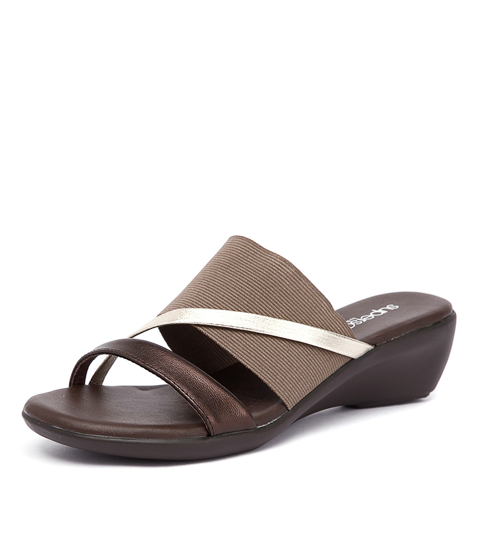 Supersoft by Diana Ferrari Loraine2 Bronze Metallic Multi Sandals online