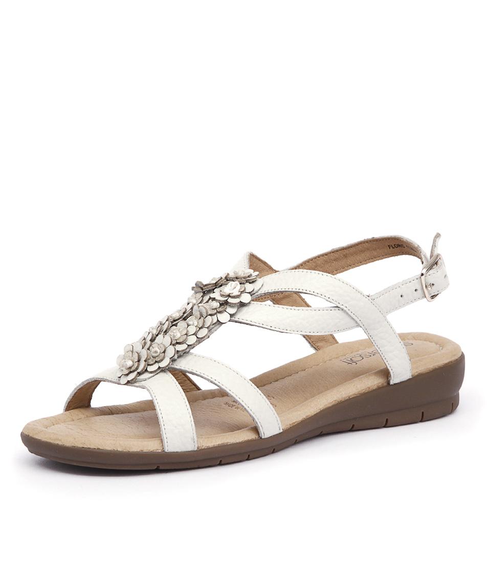 Supersoft by Diana Ferrari Floris White Sandals
