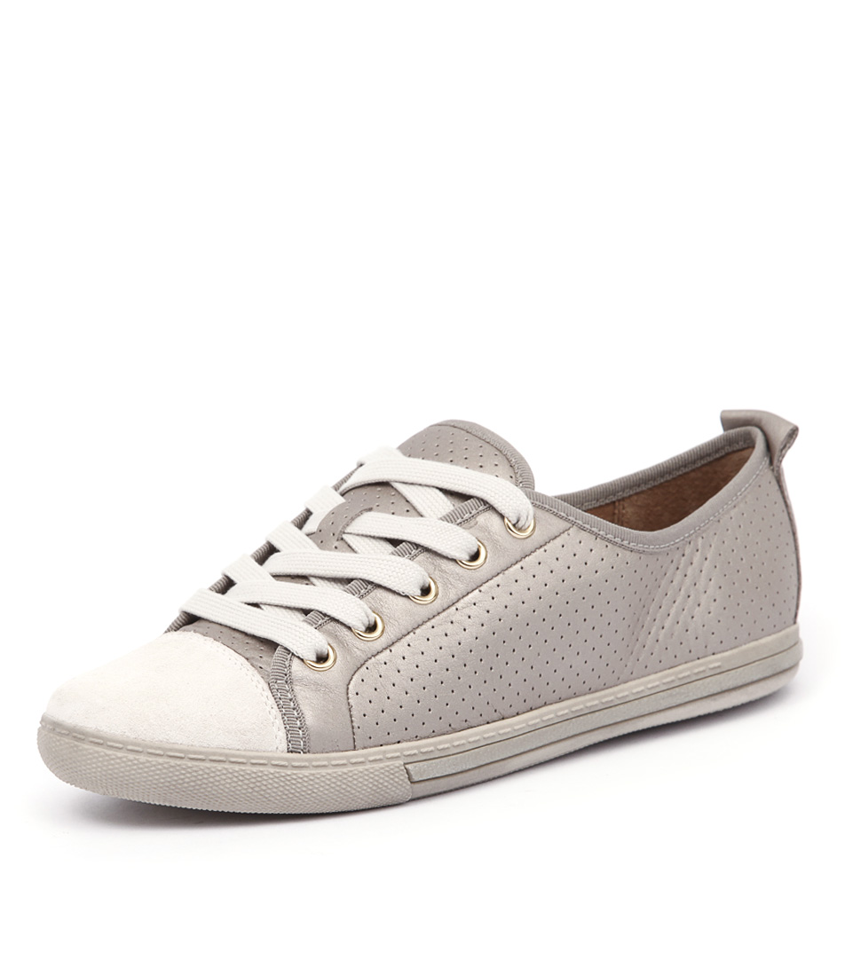 Supersoft by Diana Ferrari Andi Platinum-Bone Sneakers