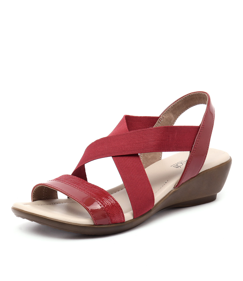Supersoft by Diana Ferrari Penza Fire Red Sandals