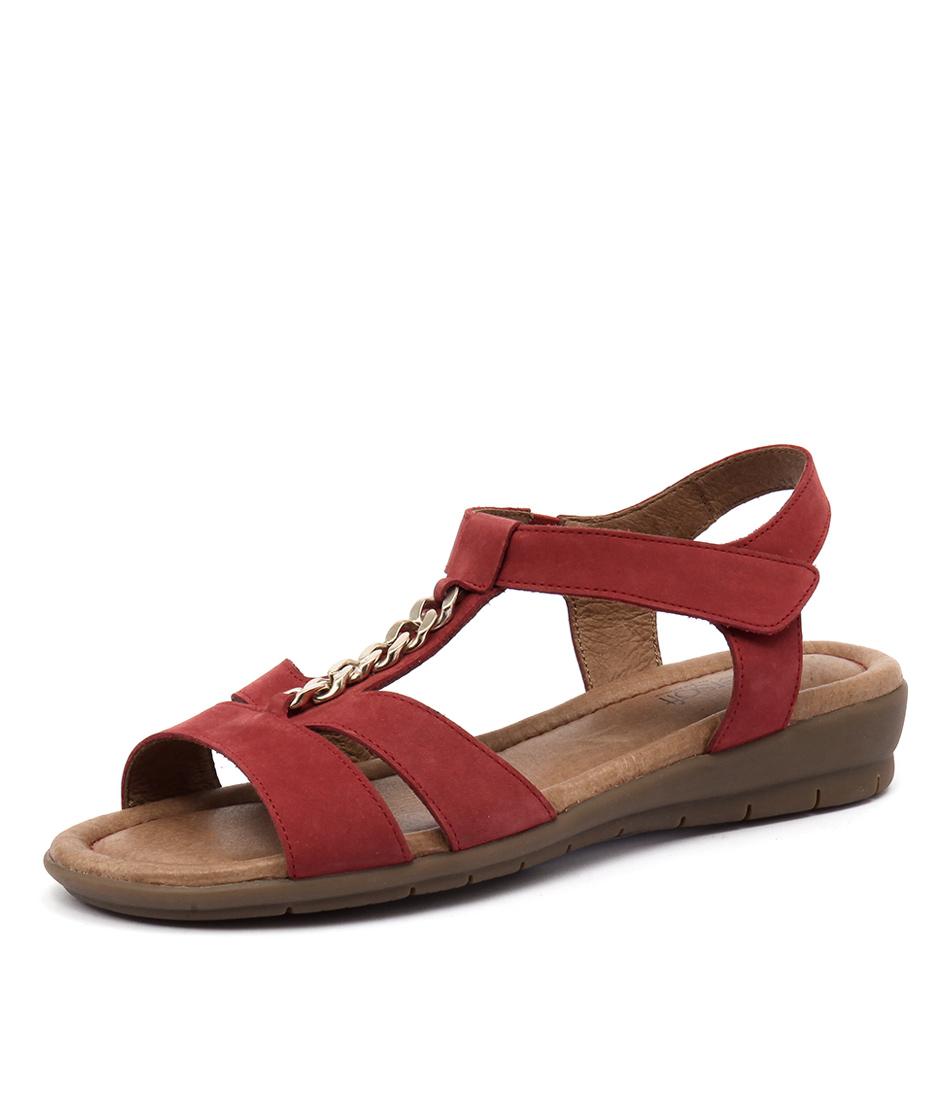 Supersoft by Diana Ferrari Frangelico Dark Red Nappa Sandals