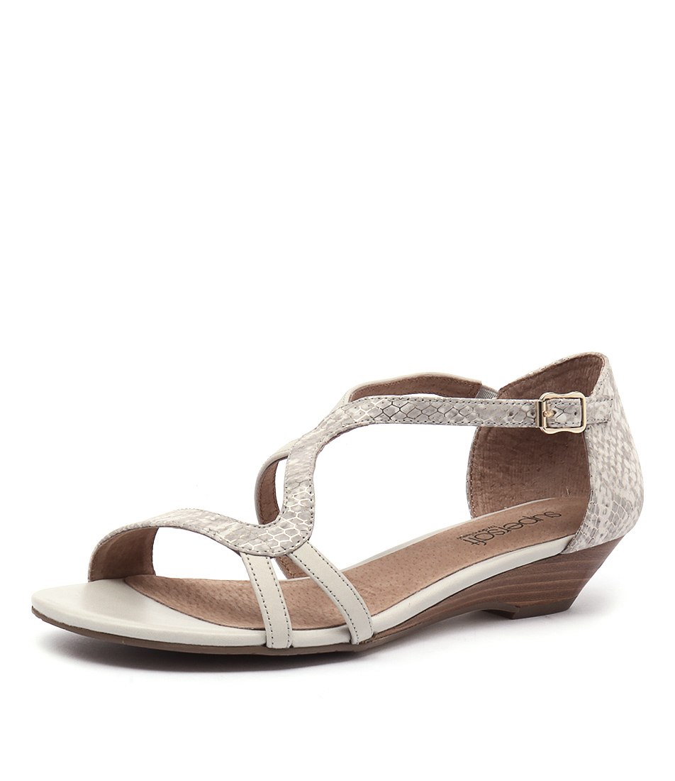 Supersoft by Diana Ferrari Billy Stone-Metallic Snake Sandals