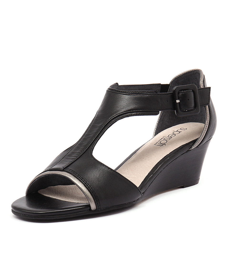 Supersoft by Diana Ferrari Kavita Black Sandals