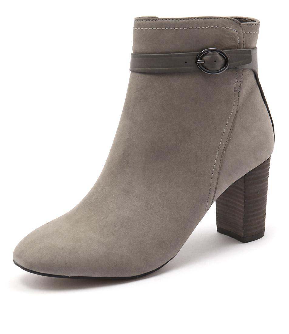Supersoft by Diana Ferrari Valour Light Grey Nappa Boots