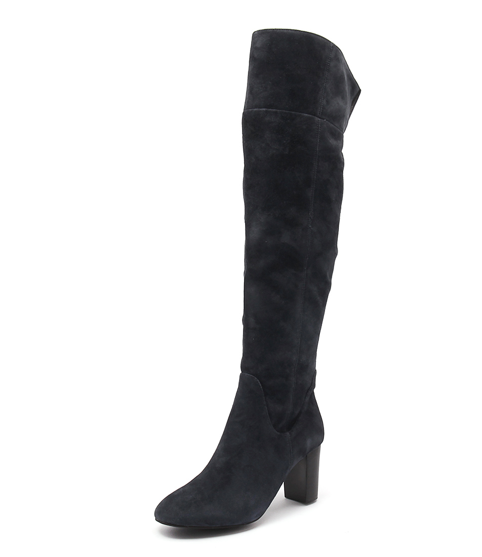 Supersoft by Diana Ferrari Vibrant Dark Blue Suede Boots