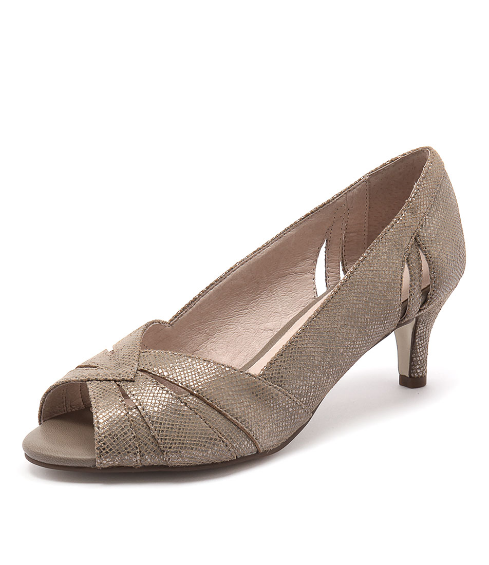 Supersoft by Diana Ferrari Genny Mink Metallic Snake Dress Pumps online