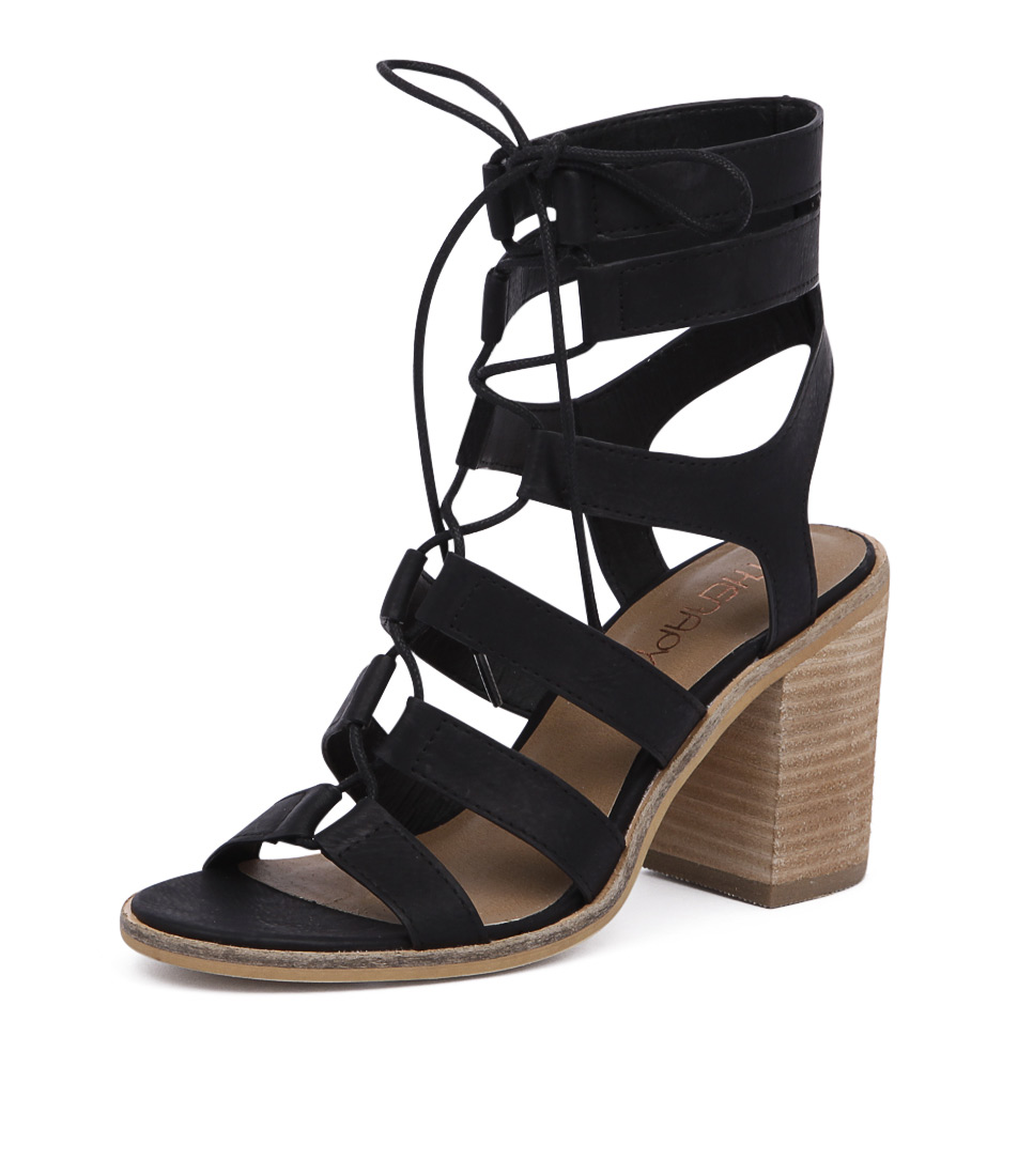 Therapy Thorin Black Sandals online