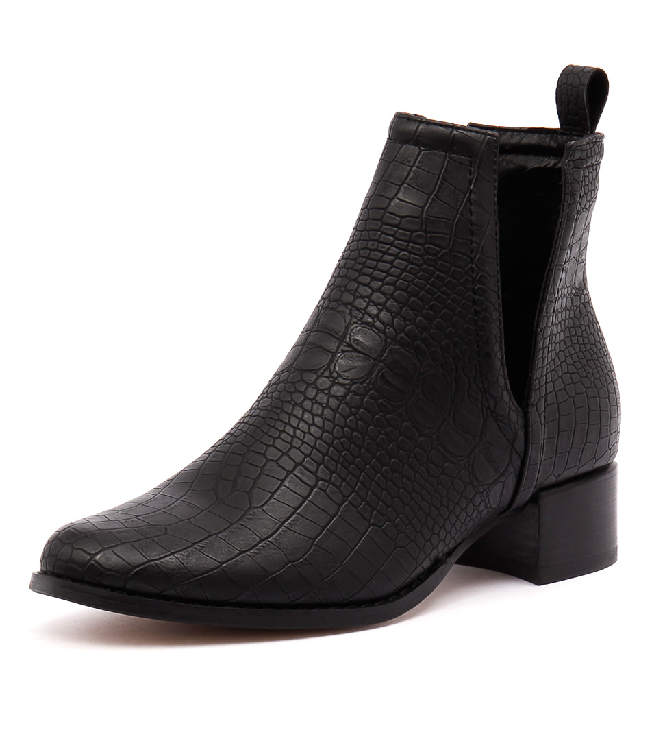 Therapy Nirvana Black Croc Boots
