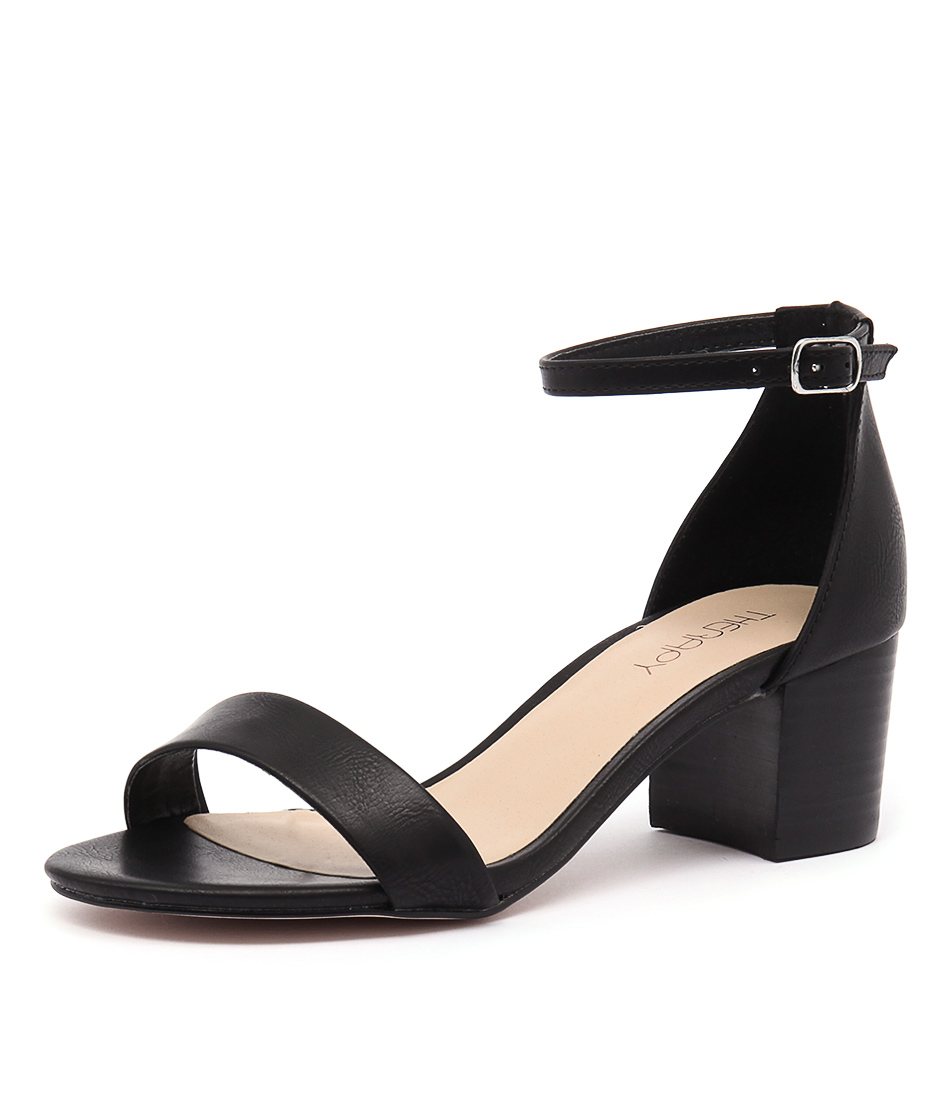 Therapy Reeves Black Burnished Sandals online