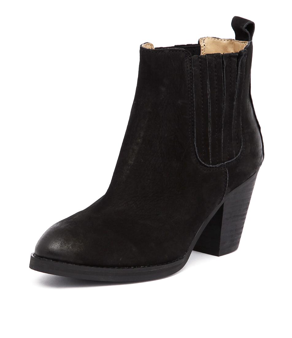 Tony Bianco Santana Black Chicago-Black Wax Boots