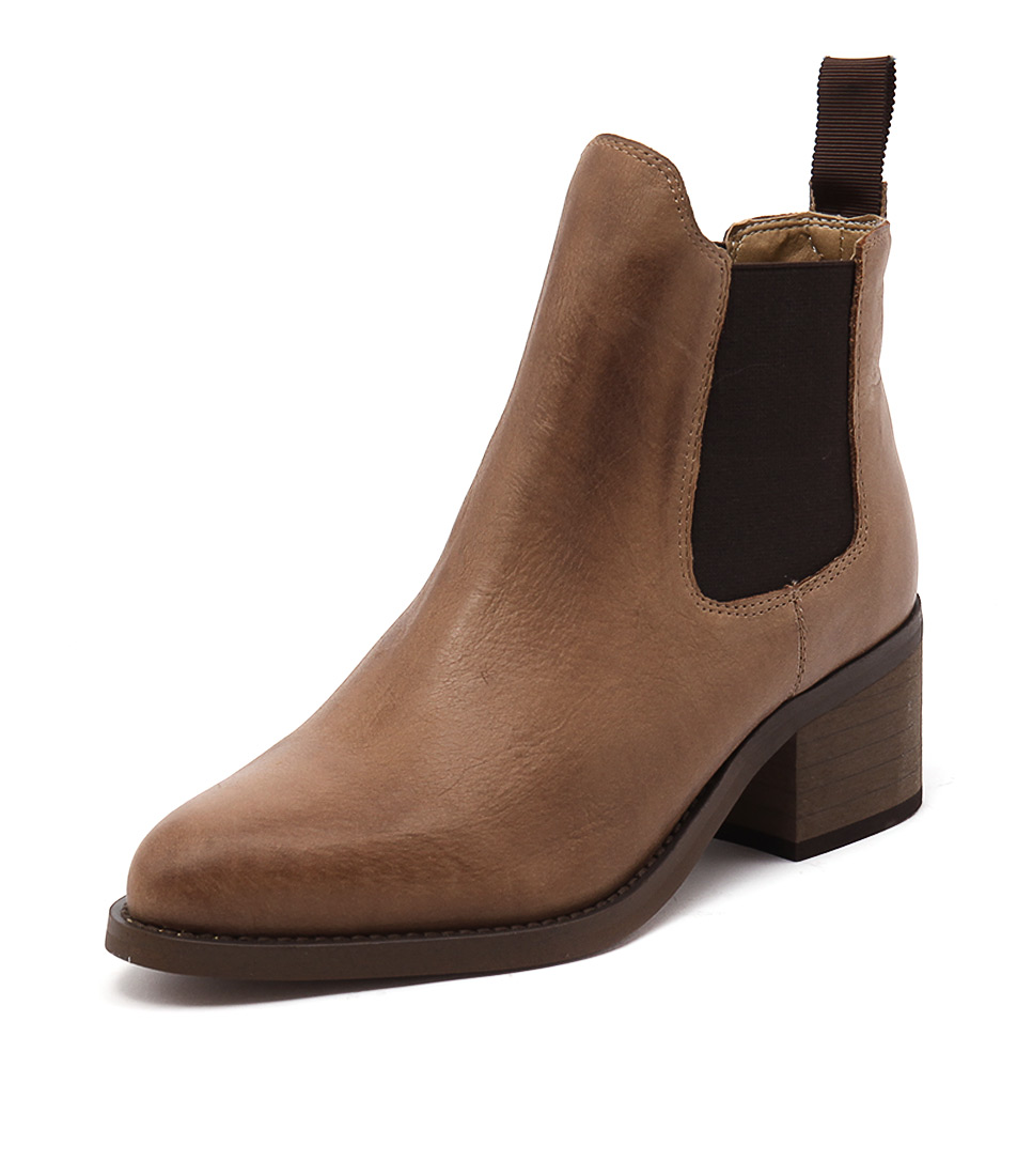 Tony Bianco Fraya Rust Diesel-Choc Wax Boots
