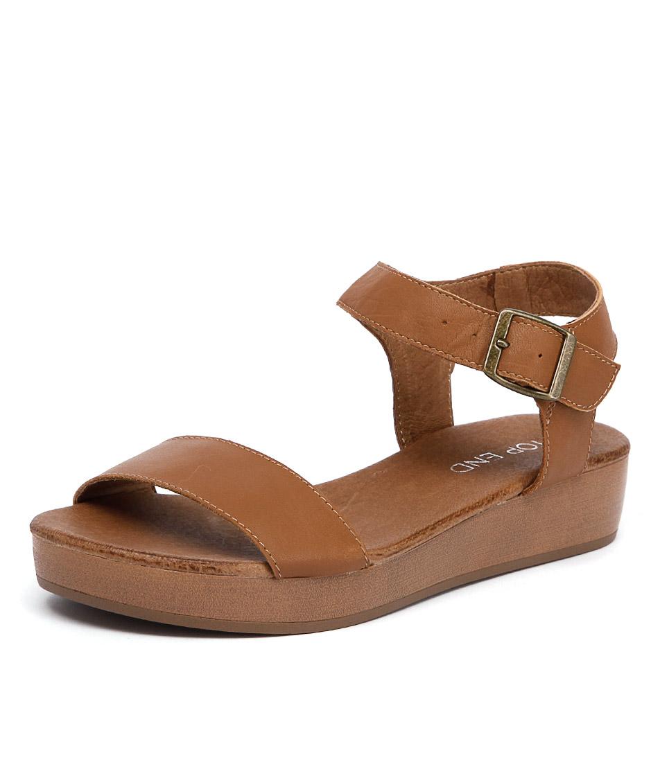 Top End Aura Tan Sandals