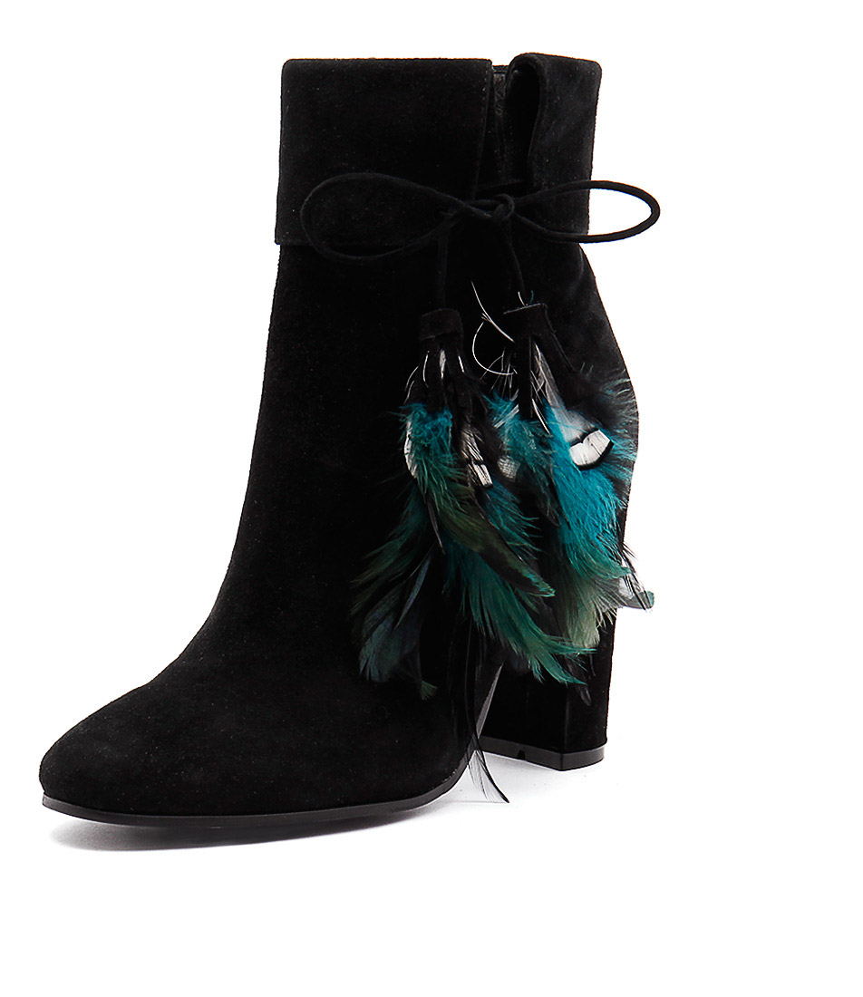 Top End Seather Black Suede Boots