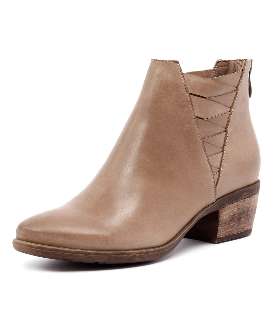 Top End Serious Taupe Leather Boots online