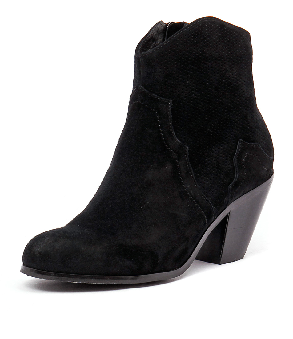 Top End Tolive Black Suede-Punch Boots