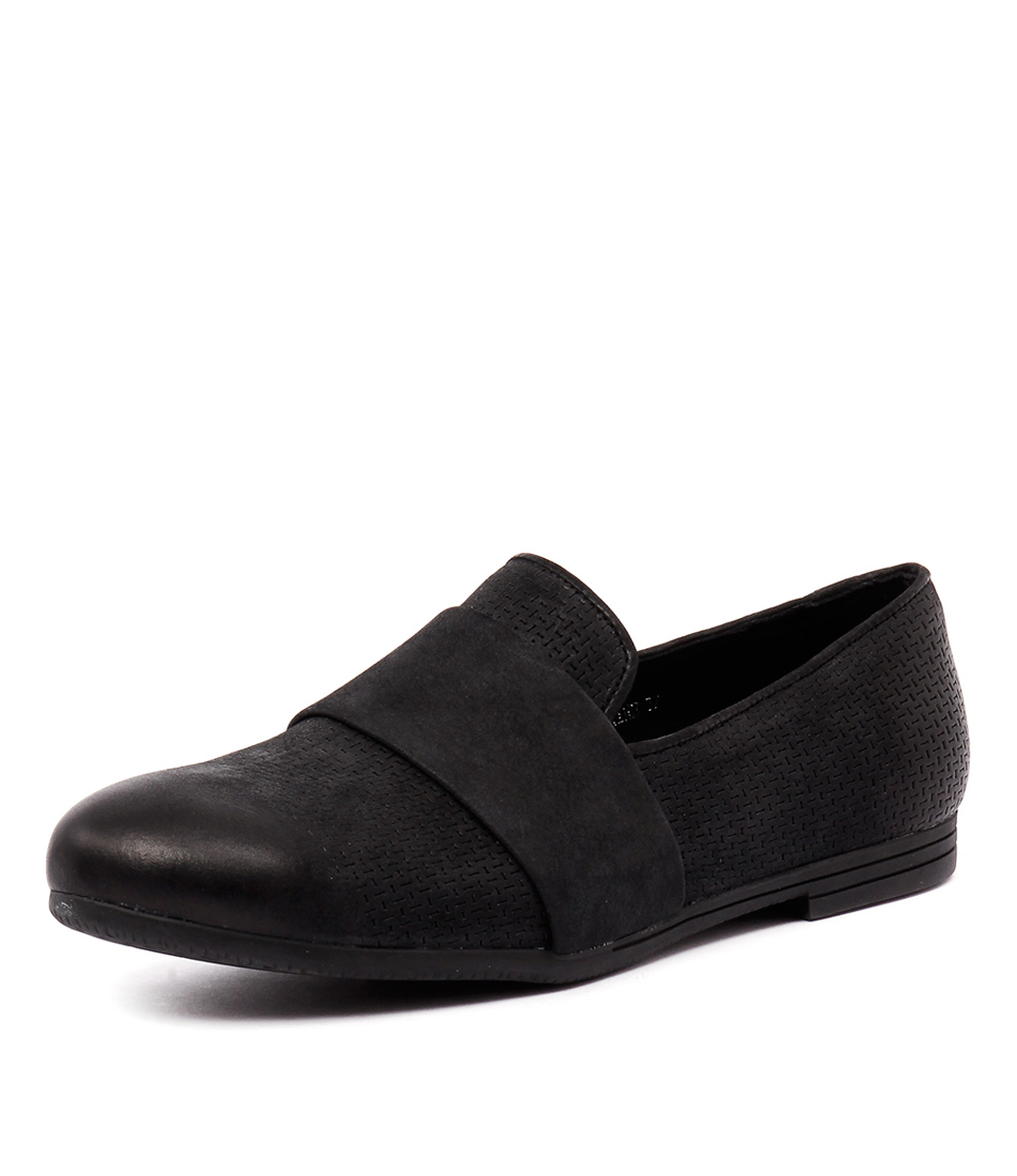 Top End Vaxine Black Print Loafers
