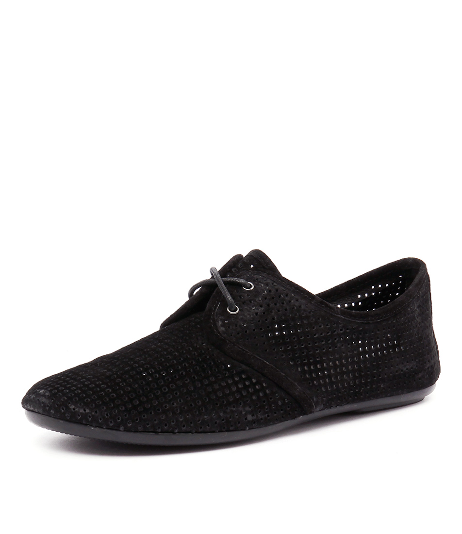 Top End Zinky Black Punch Suede Shoes