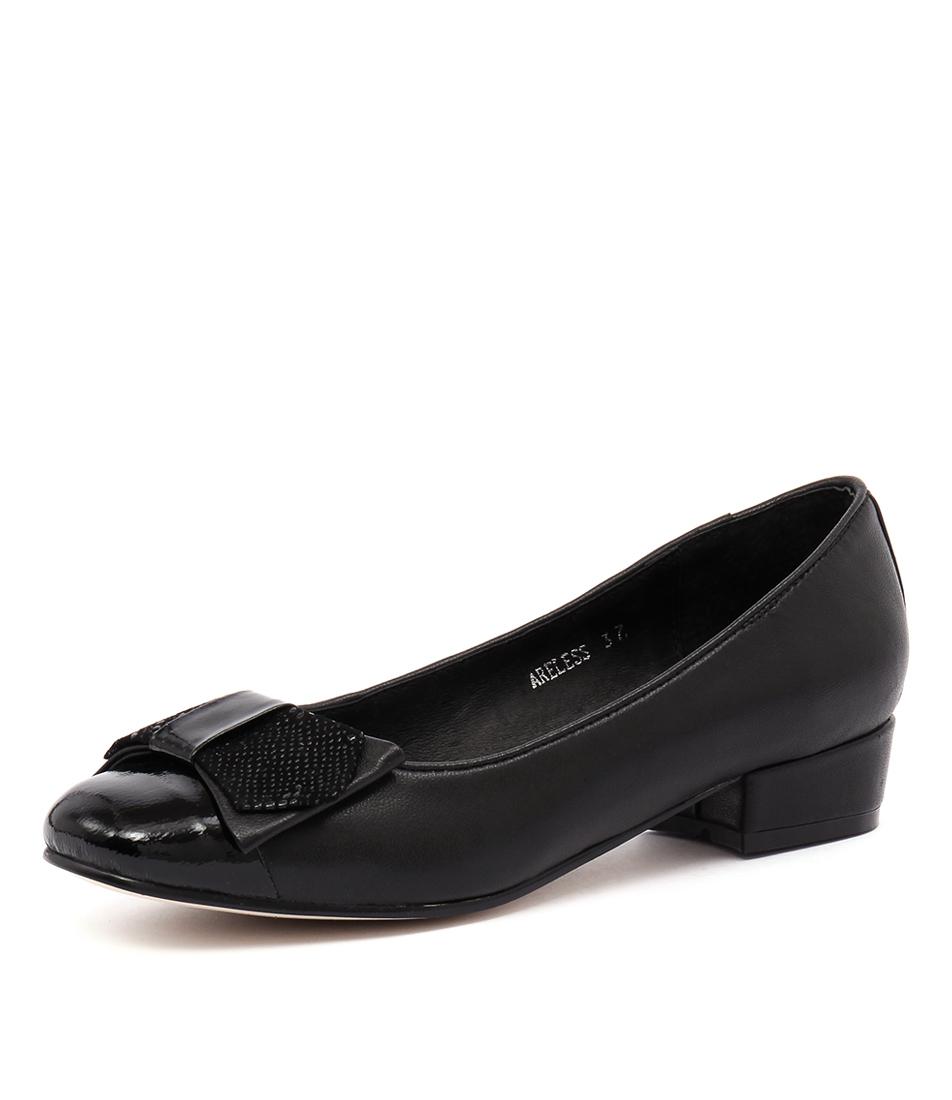 Top End Areless Black Patent-Black Dress Pumps