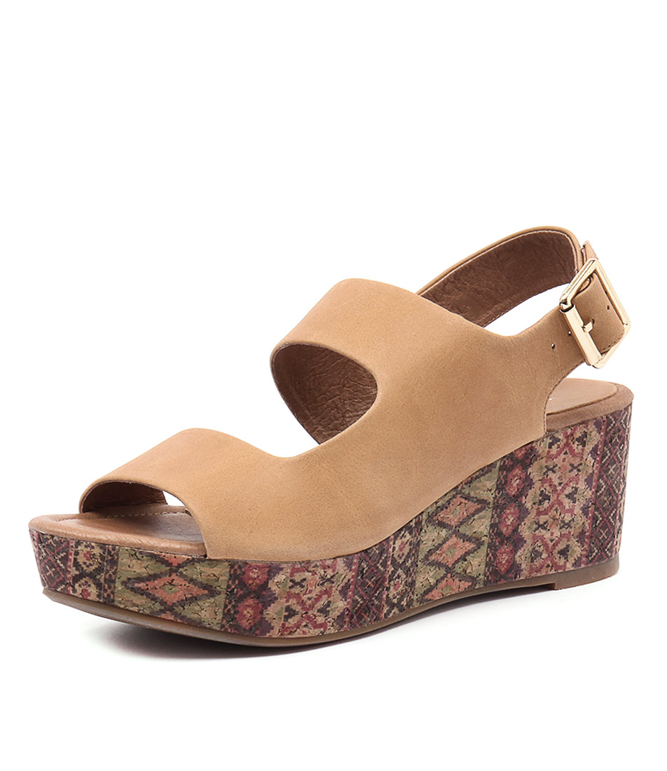 Top End Sanity Tan Leather-Tribal Cork Sandals