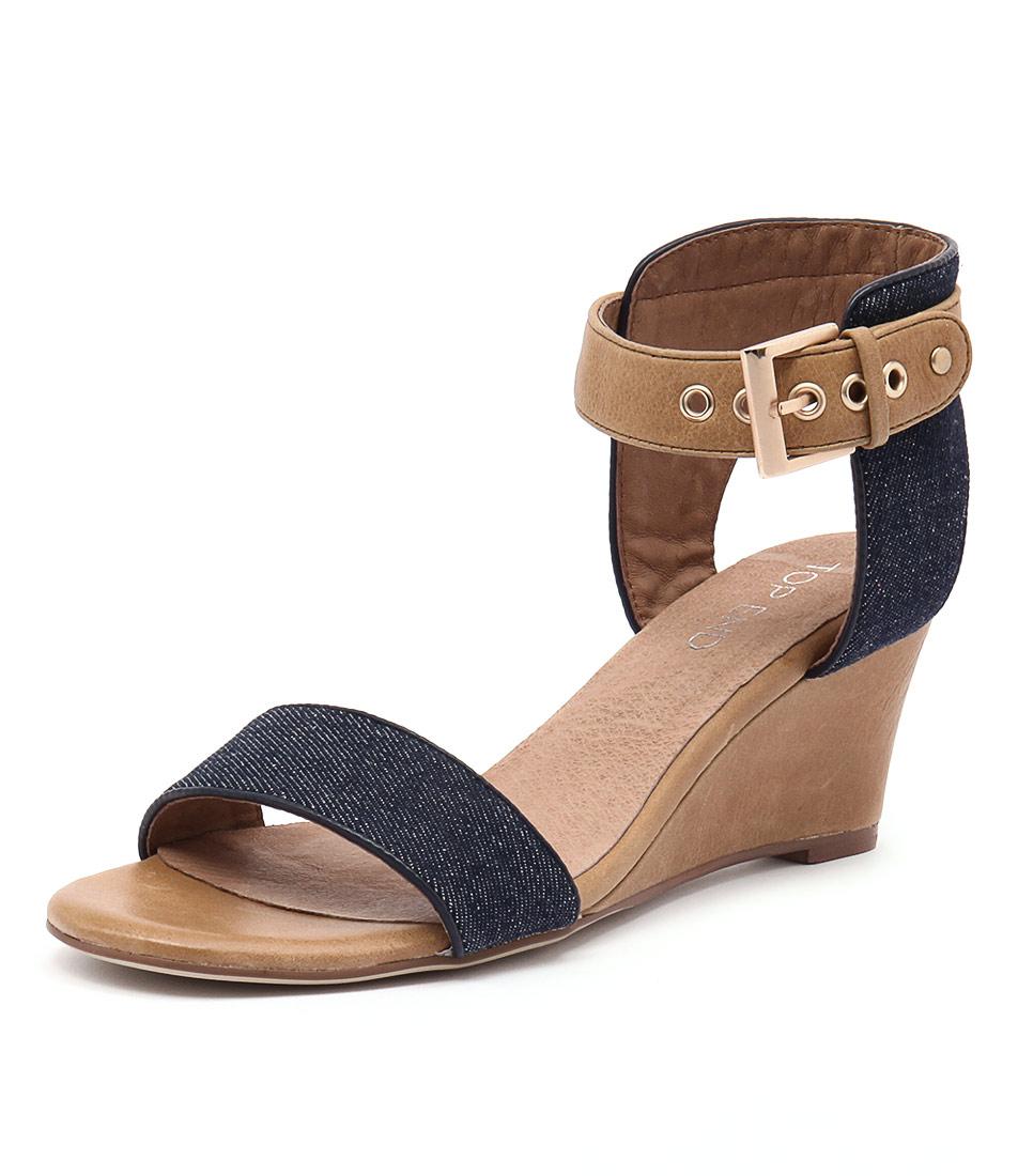Top End Umbra Dark Denim-Tan Sandals