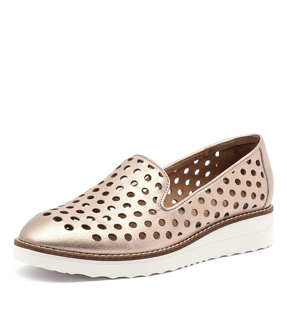 Top End Oslo Rose Gold Metallic Loafers online
