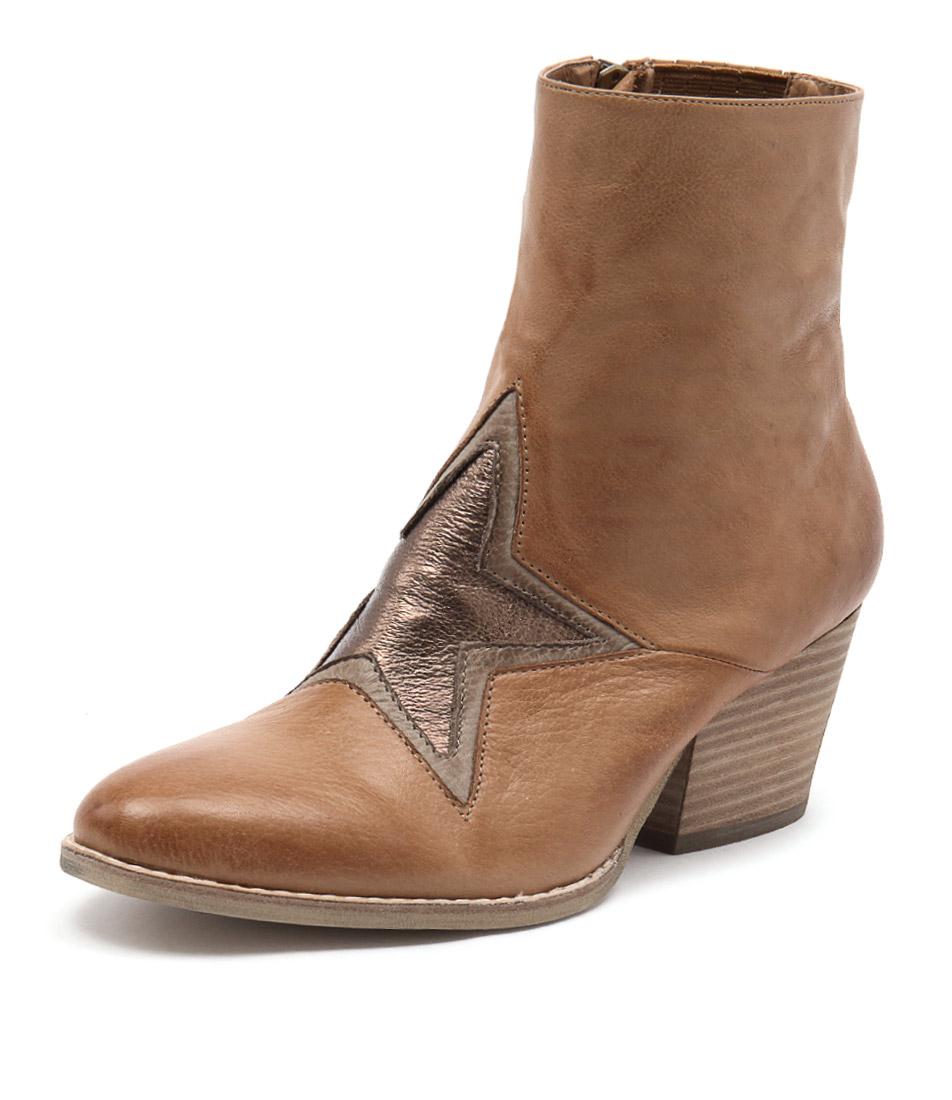 Top End Wallo Dark Tan-Ash-Bronze Boots