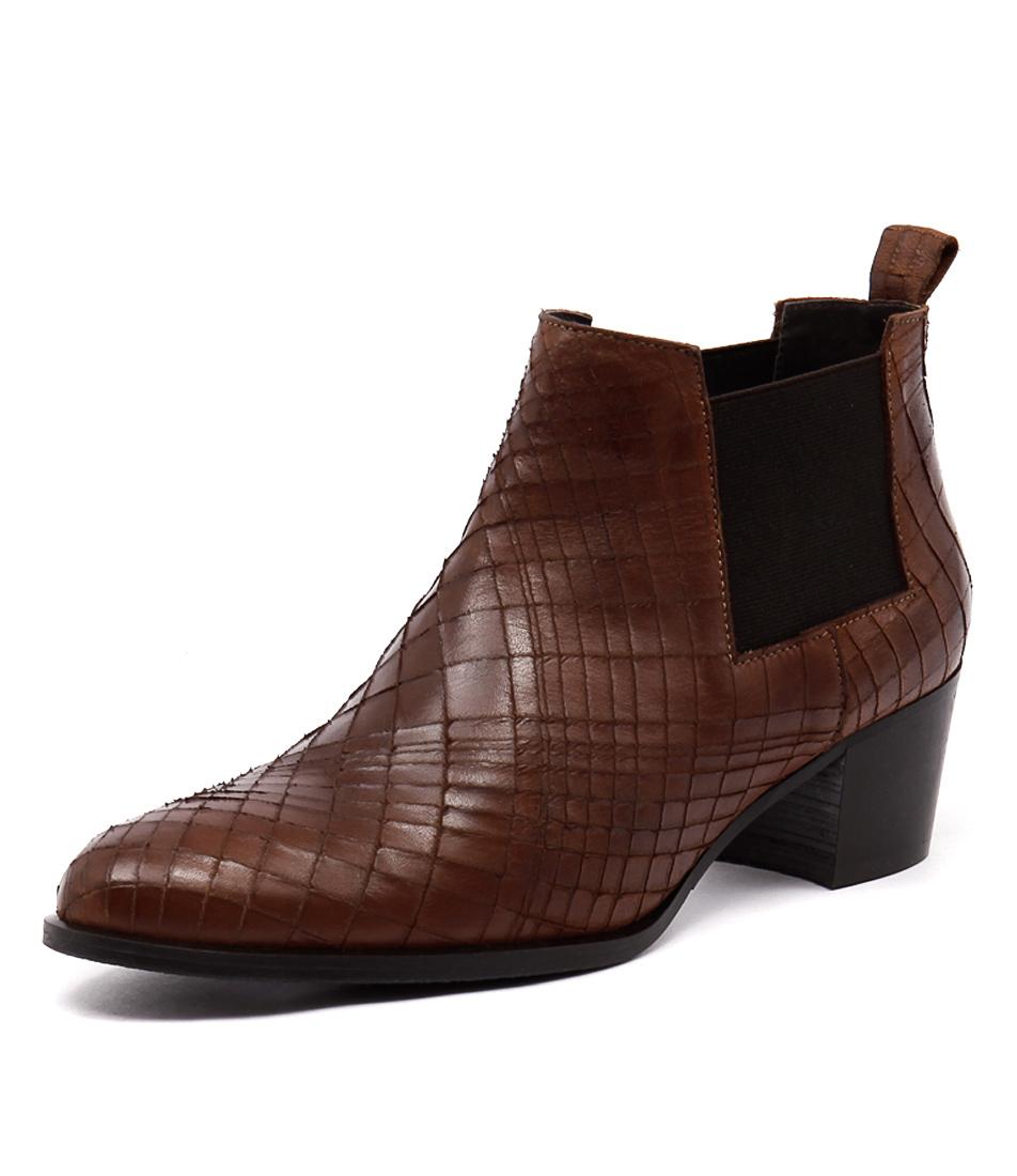 Valeria Grossi Gin Brandy Slashed Siviglia Boots