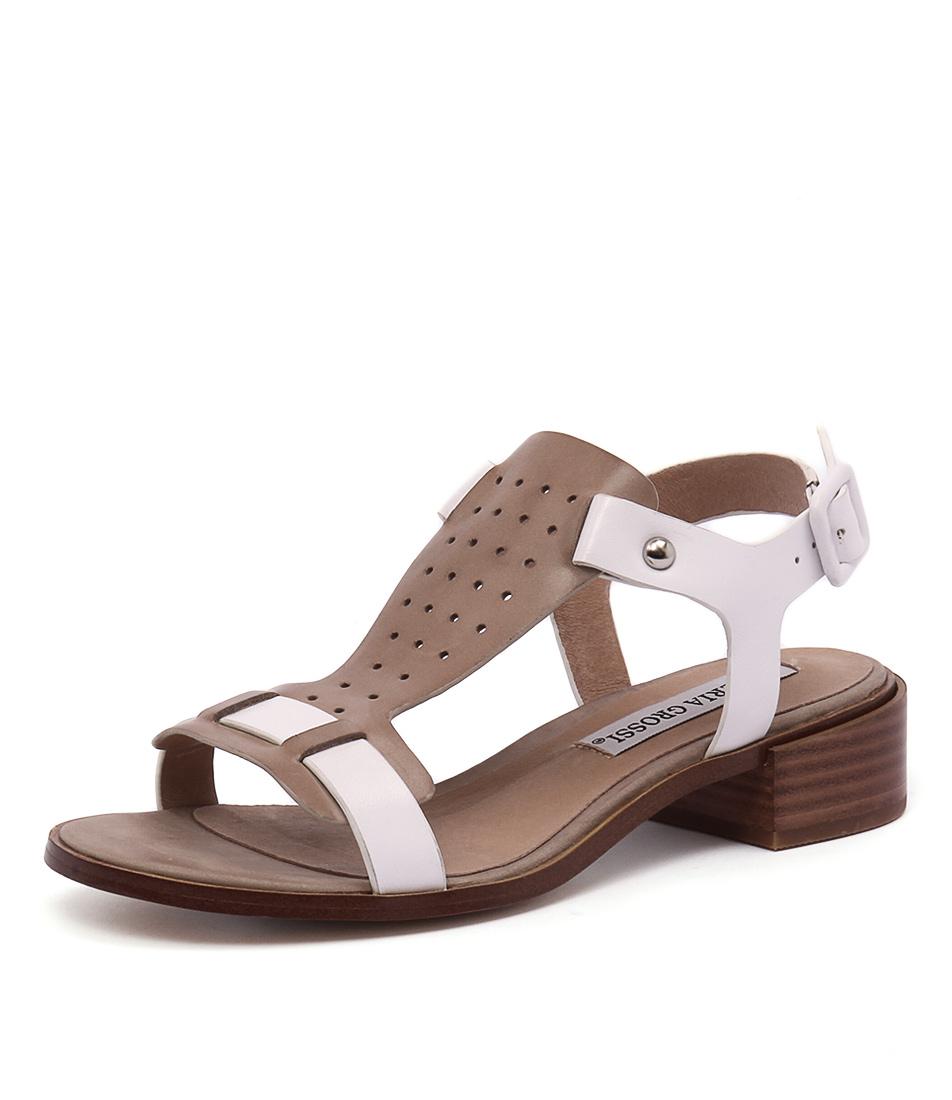 Valeria Grossi Faye Taupe-White Sandals