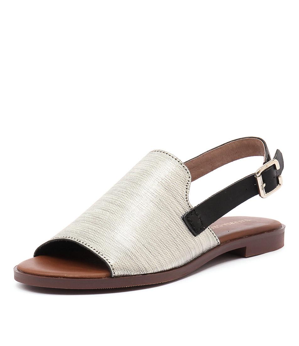 Valeria Grossi Jojo Soft Gold-Black Sandals
