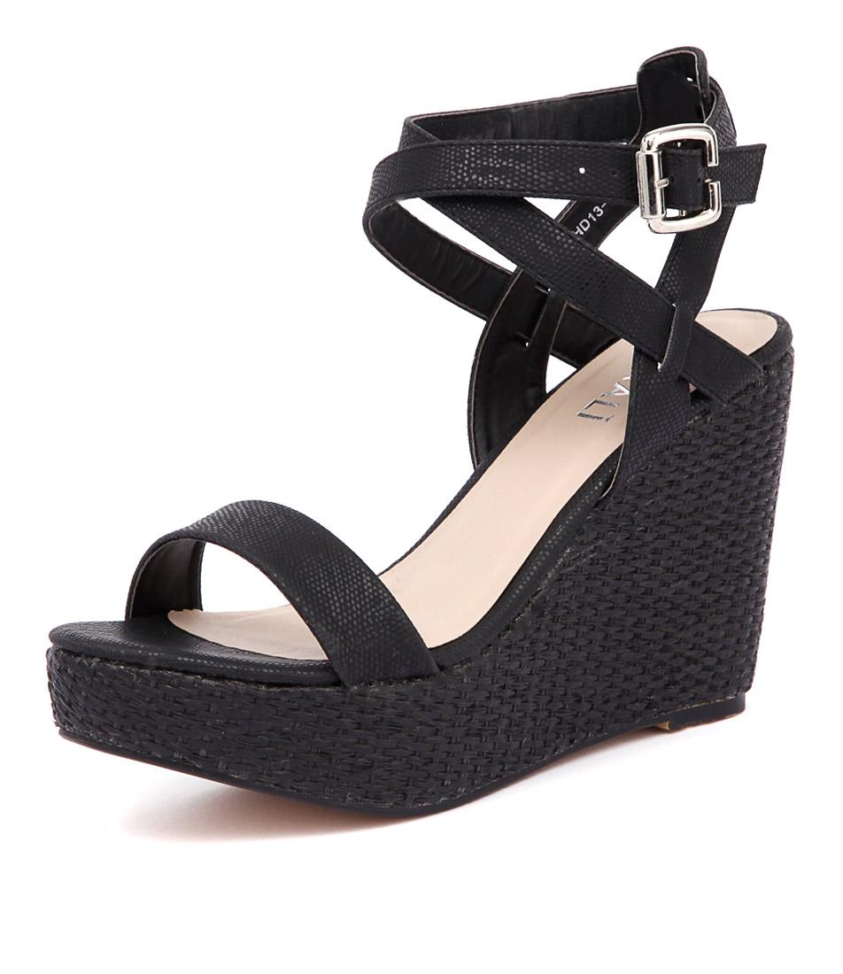 Verali Auburn Black Lizard Sandals online