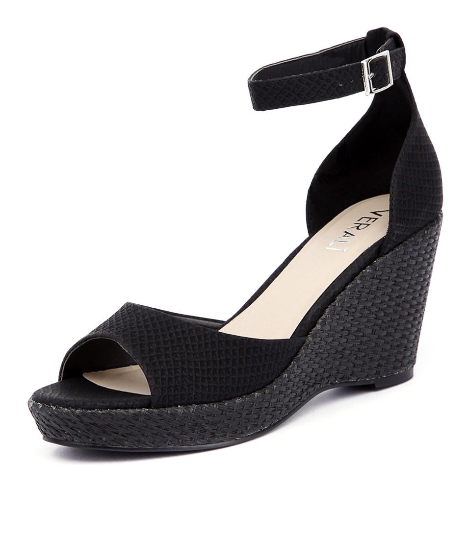 Verali Prem Black Snake Sandals