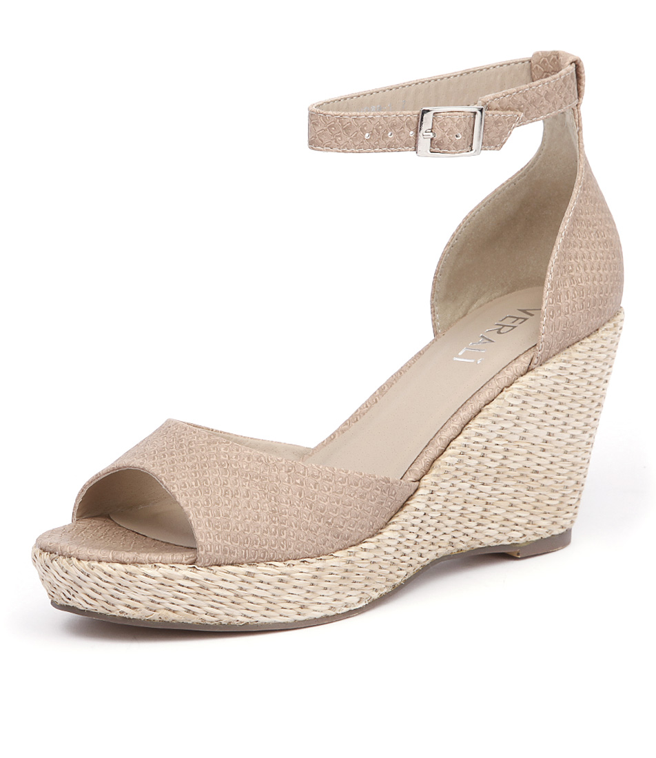 Verali Prem Nude Snake Sandals