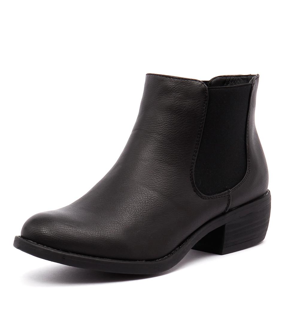 Verali Sol Black Burnished Boots