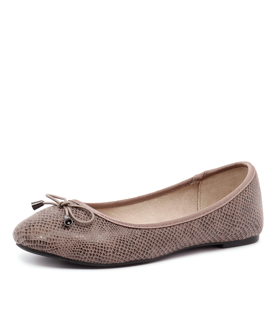Verali Tommy Taupe Snake Flats online