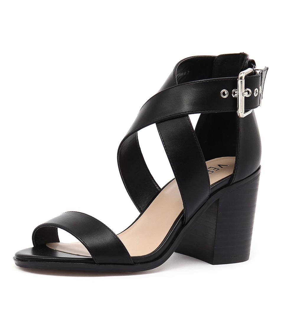 Verali Reed Black Kid Sandals