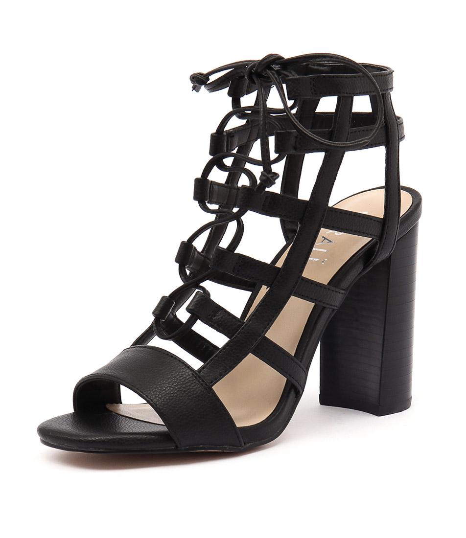 Verali Lotta Black Sandals