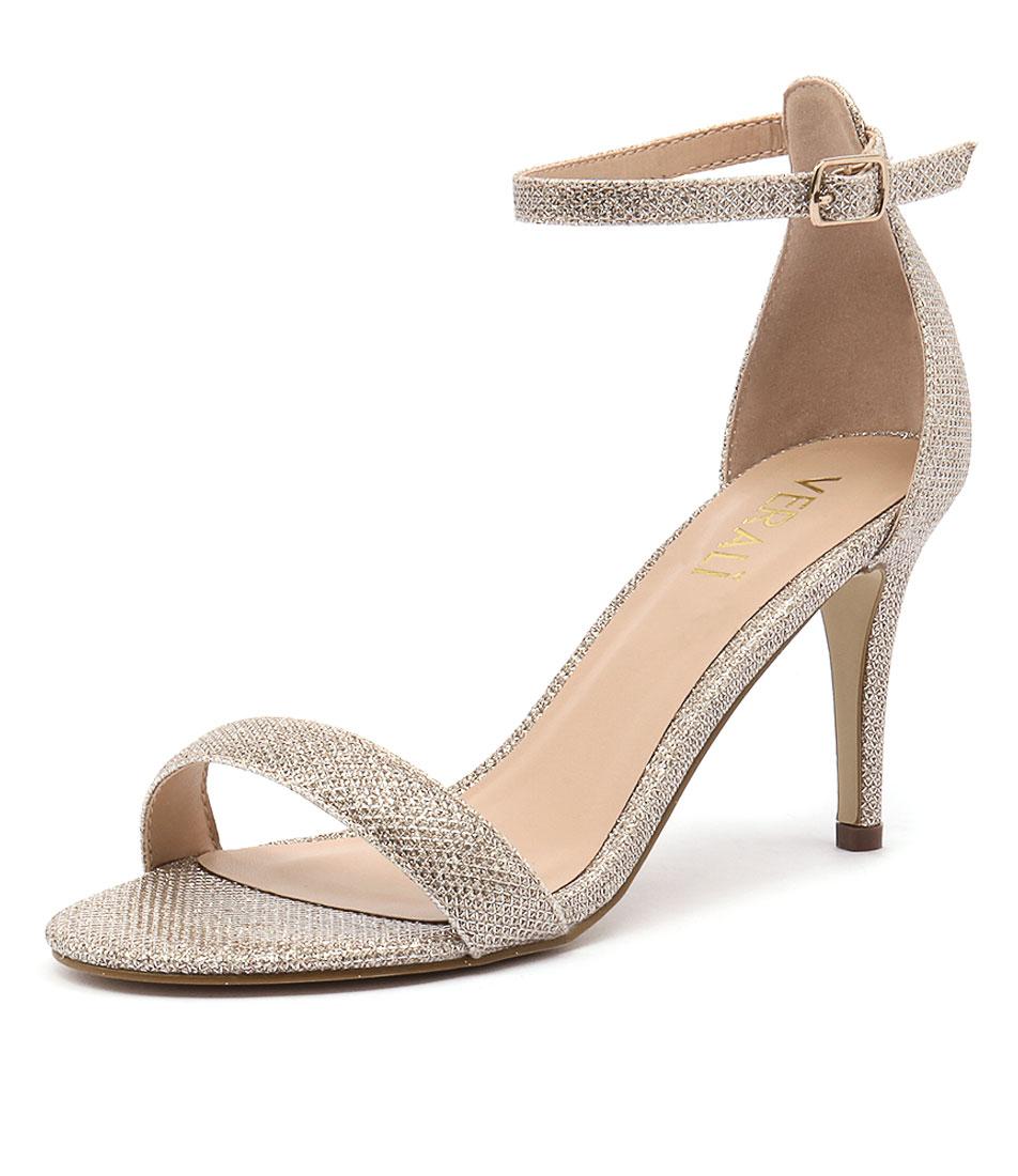 Verali Matthew Gold Glitter Sandals