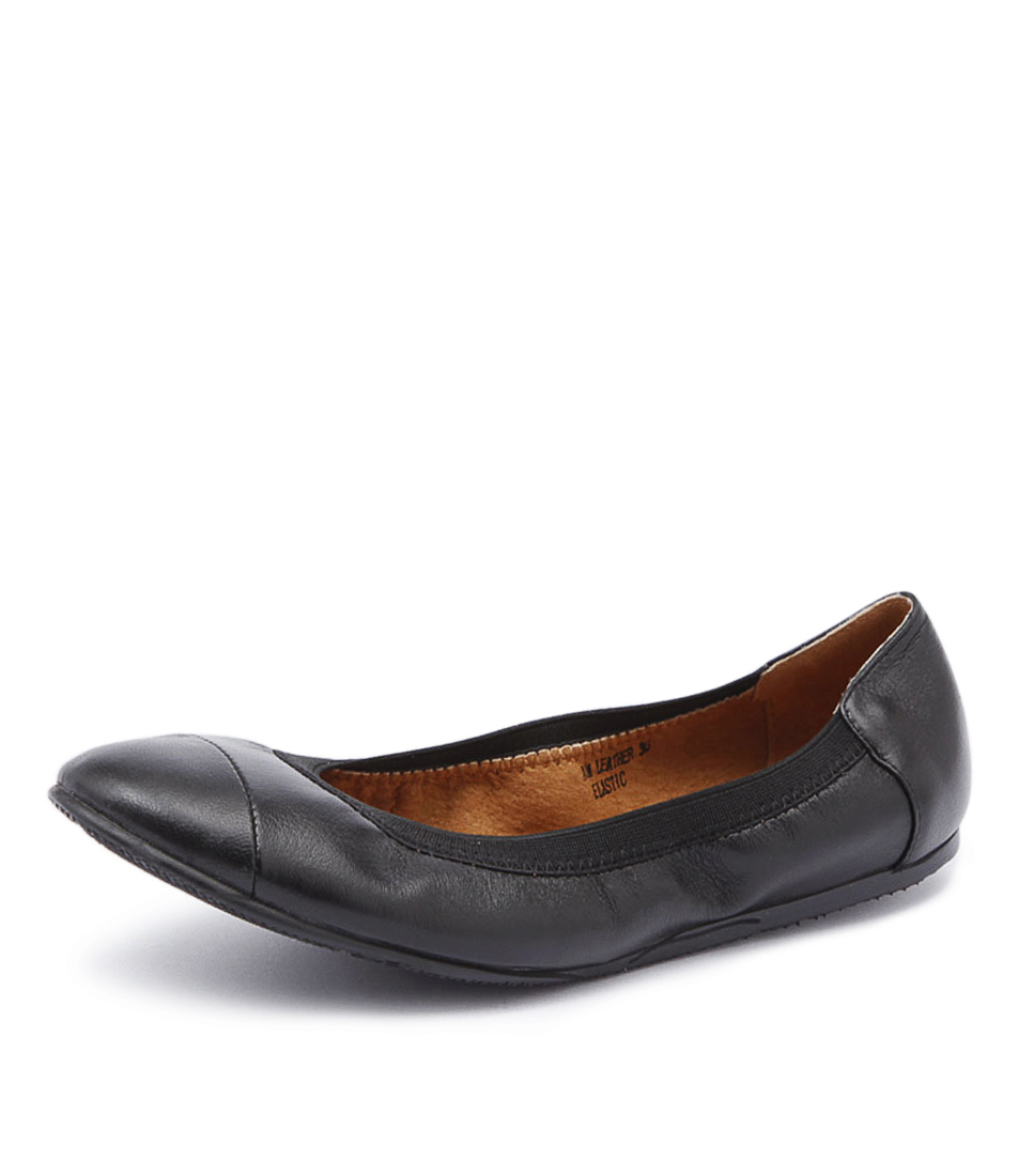 Walnut Melbourne Ava Black Flats