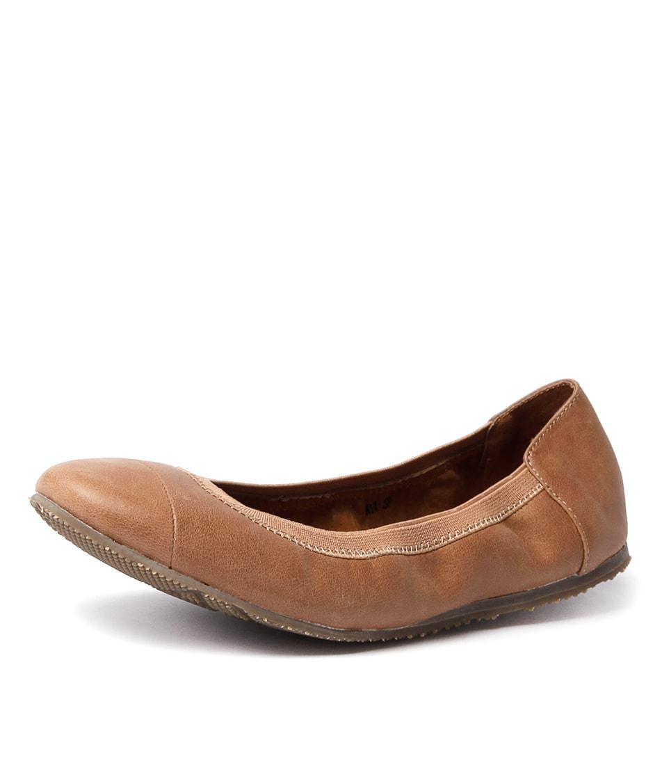 WALNUT ava ballet tan leather