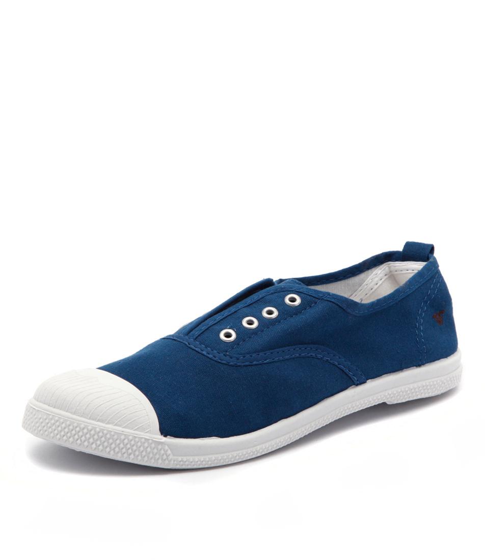 Walnut Melbourne Euro Elastic Plimsole Blue Sneakers