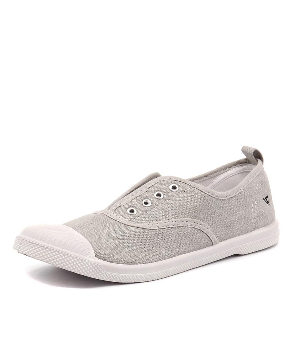 Walnut Melbourne Euro Plimsole Silver Sneakers online