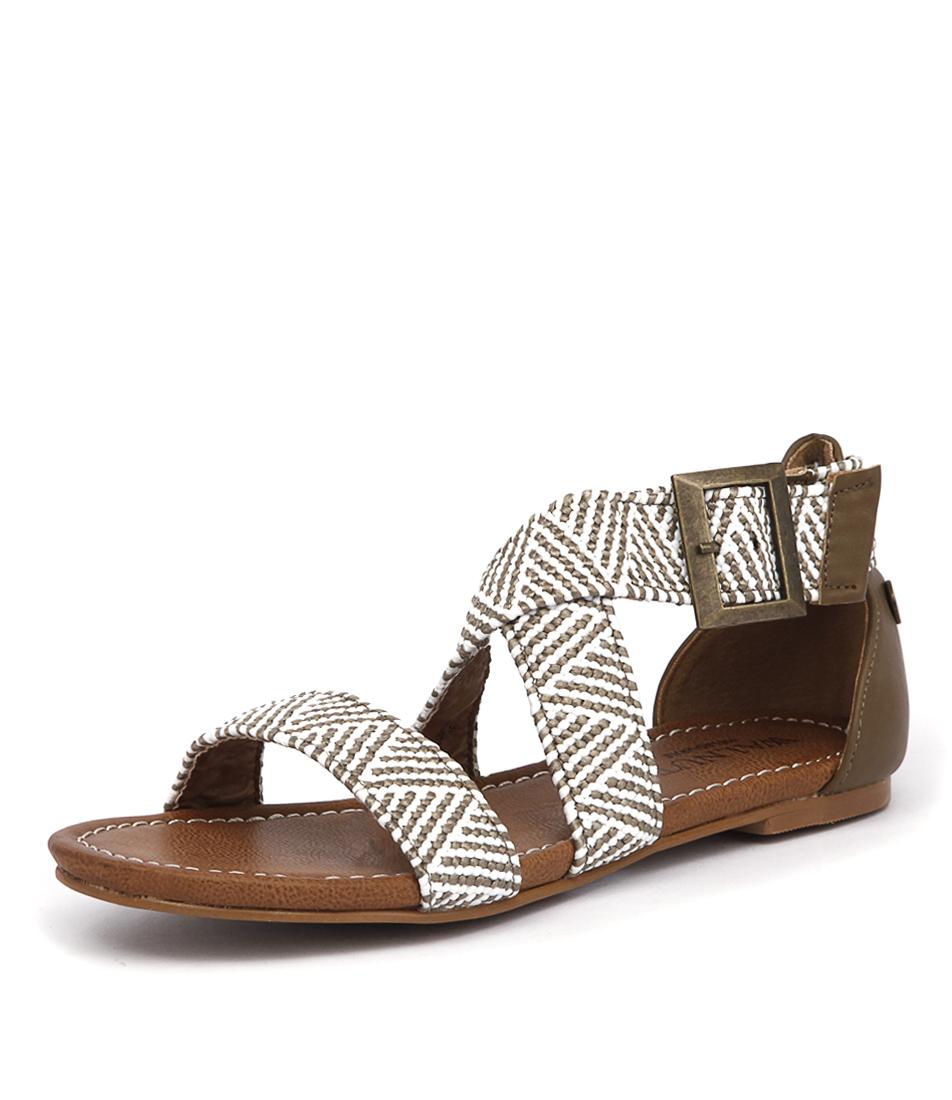 Walnut Melbourne Amber Sandal Taupe-White Sandals