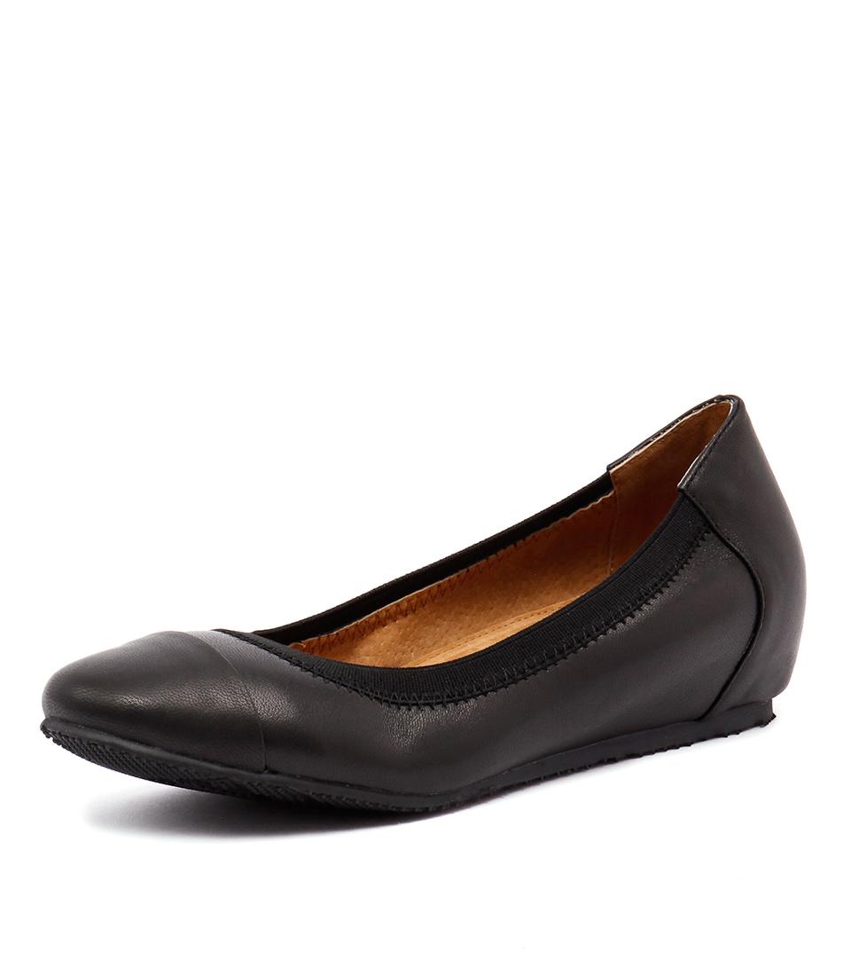 Walnut Melbourne Ivy Mini Wedge Black Shoes