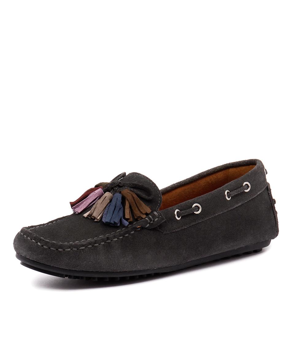 Walnut Melbourne Driving Loafer Tassel Grey Shoes