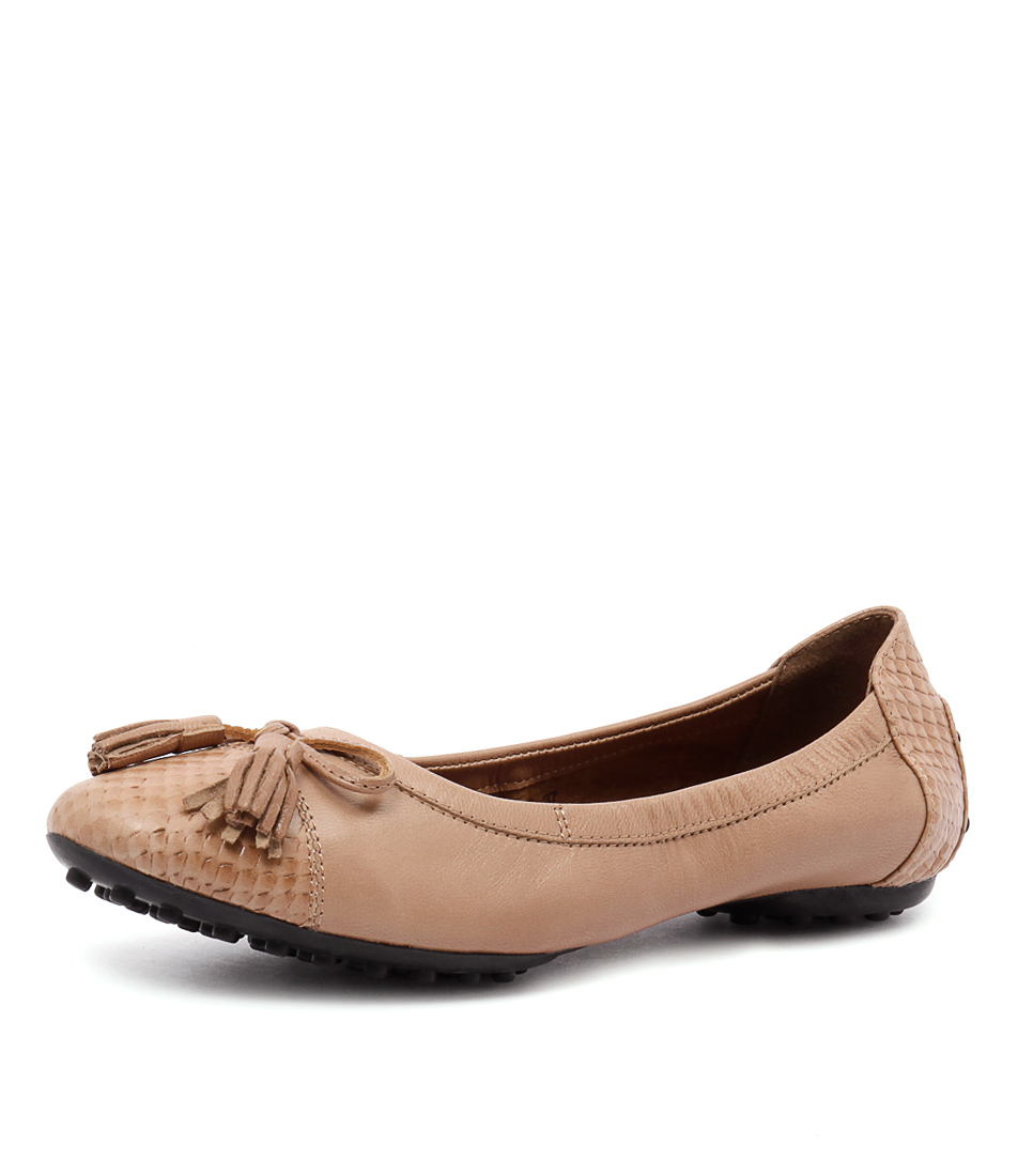 Walnut Melbourne Driving Ballet Tan Flats