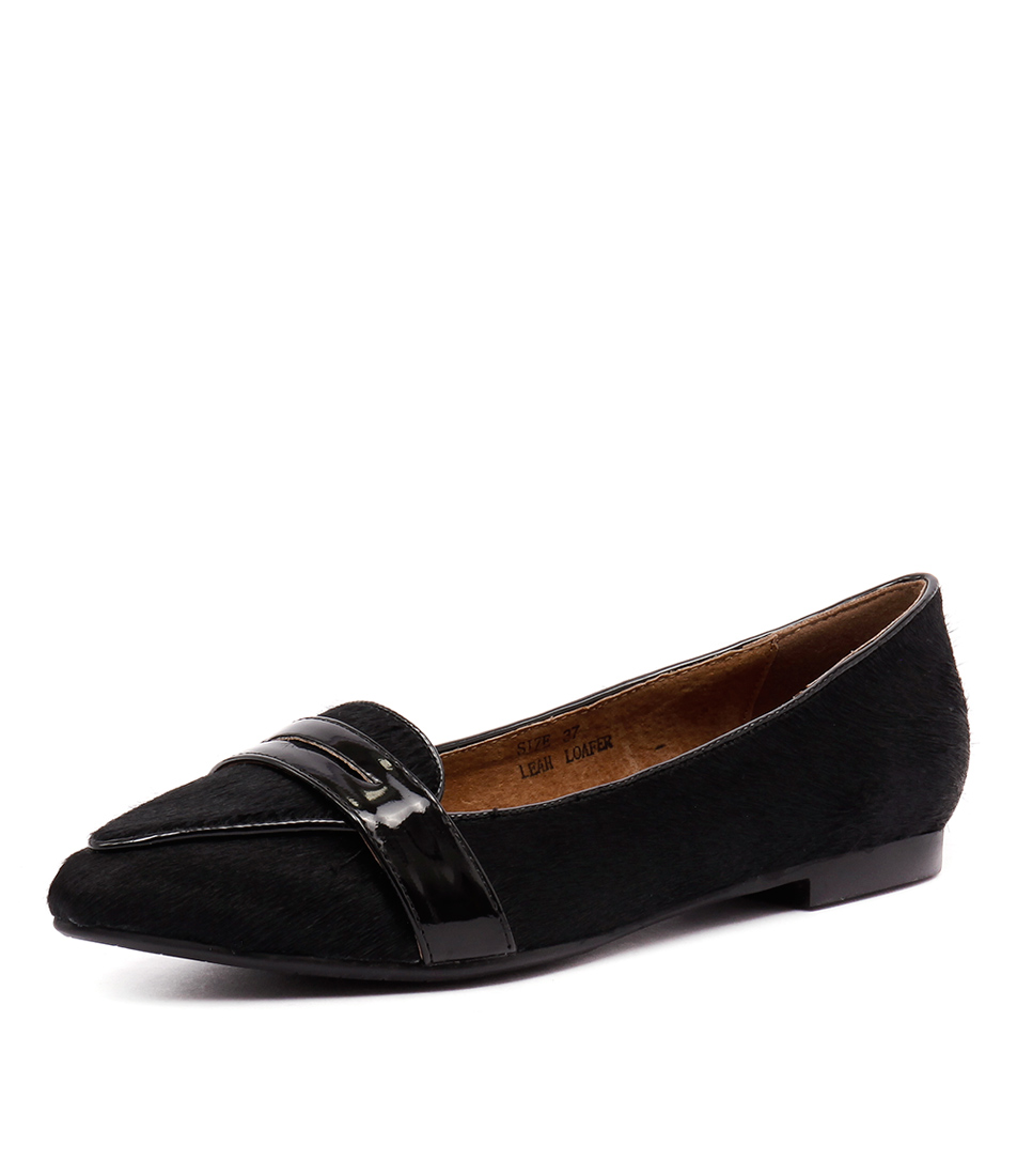 Walnut Melbourne Leah Loafer Black Loafers