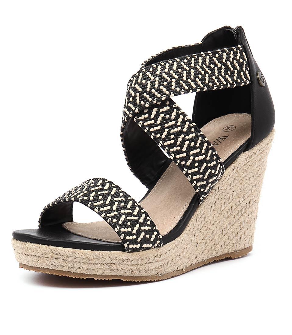 Walnut Melbourne Dusty Black Combo Sandals